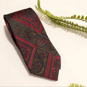 Christian Dior silk vintage paisley tie